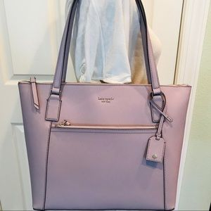 Kate spade Cameron Pocket tote Icy lavender